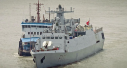 The BNS Shadhinota (F111), the first of two C13B corvettes to enter service with the Bangladesh Navy