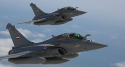 Two Egyptian Air Force Rafale fighters. Photo credit: Dassault Aviation