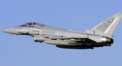 A Royal Saudi Air Force Eurofighter Typhoon. Photo credit: Gordon Zammit via Wikipedia Commons