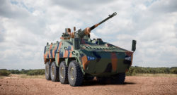 The Mbombe 8 wheeled 8x8 armoured fighting vehicle. Photo credit: Paramount Group