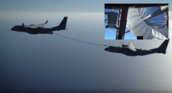 Airbus Defence and Space demonstrating the C295's air-to-air refueling capabilities. Photo credit: Airbus Defence and Space