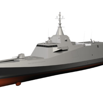 The DCNS FM400 medium-frigate concept, which was proposed in the late 2000s.