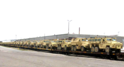 Photo credit: Mine-resistant ambush-protected vehicles delivered to Egypt in May. U.S. Department of State.
