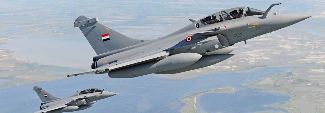Two Egyptian Rafales, part of the order of 24 aircraft from France. Photo credit: Dassault Aviation.