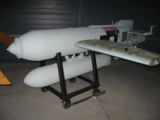 Hs-293 air-to-surface guided glide bomb. Photo credit: Smithsonian Institute.