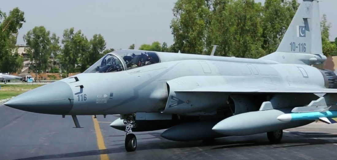 The PAF has three operational JF-17 squadrons, one of them has been assigned to Masroor Air Base in Southern Air Command. The JF-17 can be equipped with the C-802A and CM-400AKG anti-ship missiles.