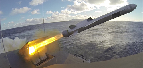 Naval Strike Missile concept. Photo credit: Kongsberg Defence & Aerospace Group.