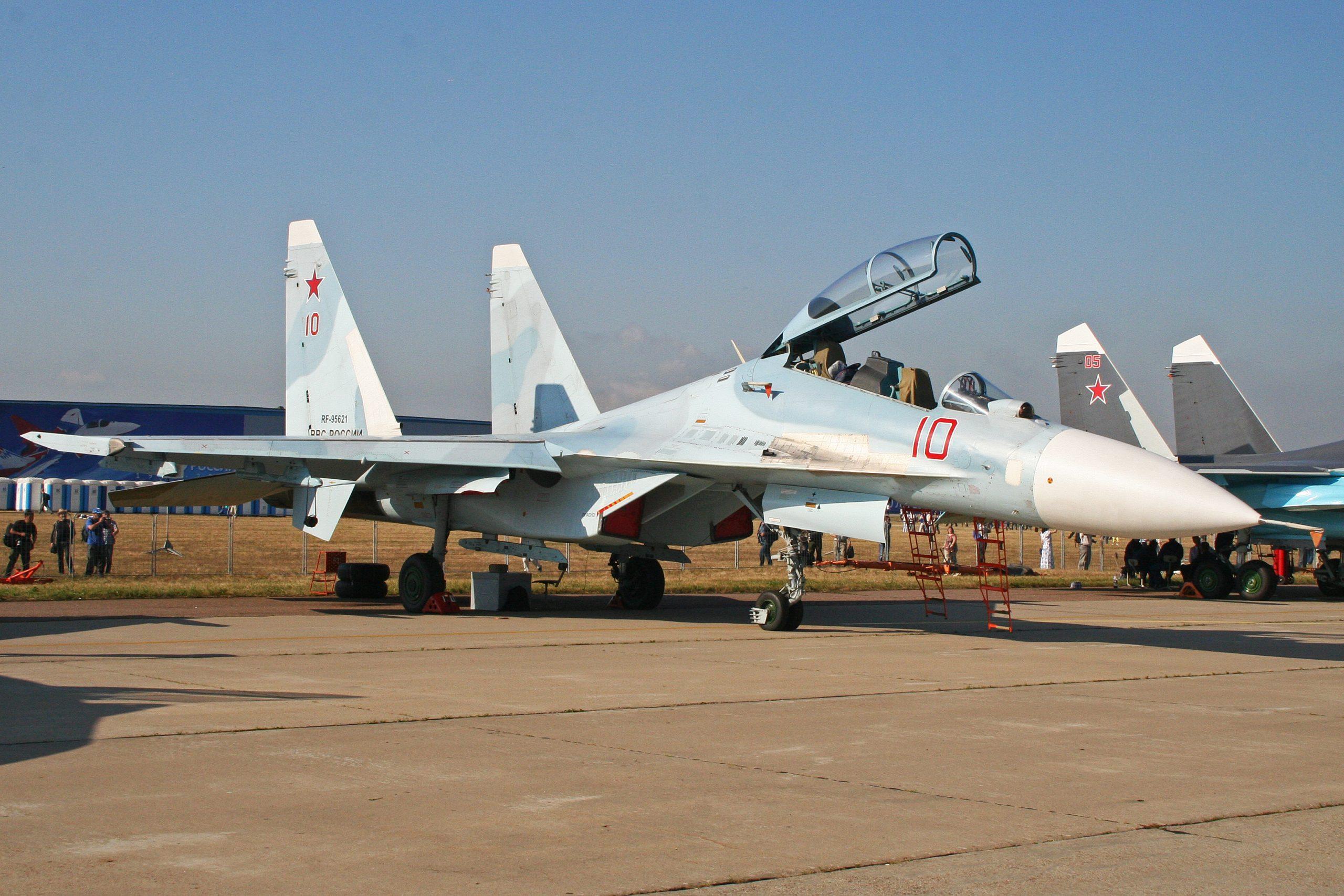 Russian Su-30M. Photo credit: Alan Wilson