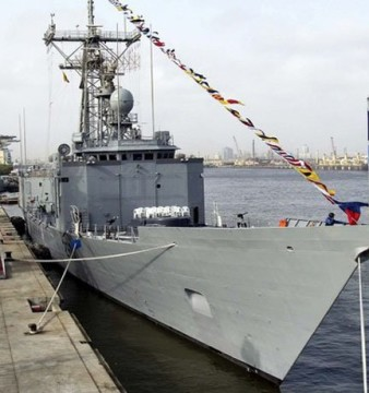 The PNS Alamgir, the lone FFG-7-class frigate in service with the Pakistan Navy. Political complications between the U.S and Pakistan have put the hope of additional ships on hold.