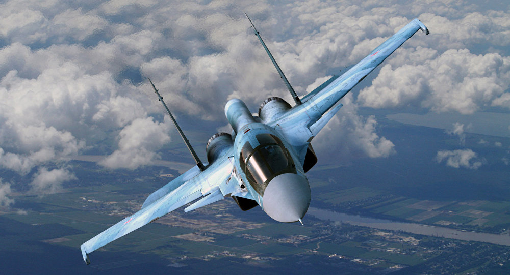 The Sukhoi Su-34 Fullback. Four to six aircraft were deployed to Syria.
