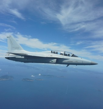 The KAI/Lockheed Martin F/A-50's test flight. Photo credit: Korea Aerospace Industries.
