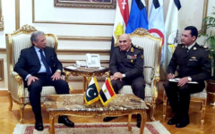 Pakistani Minister of Defence Production on official visit to Egypt