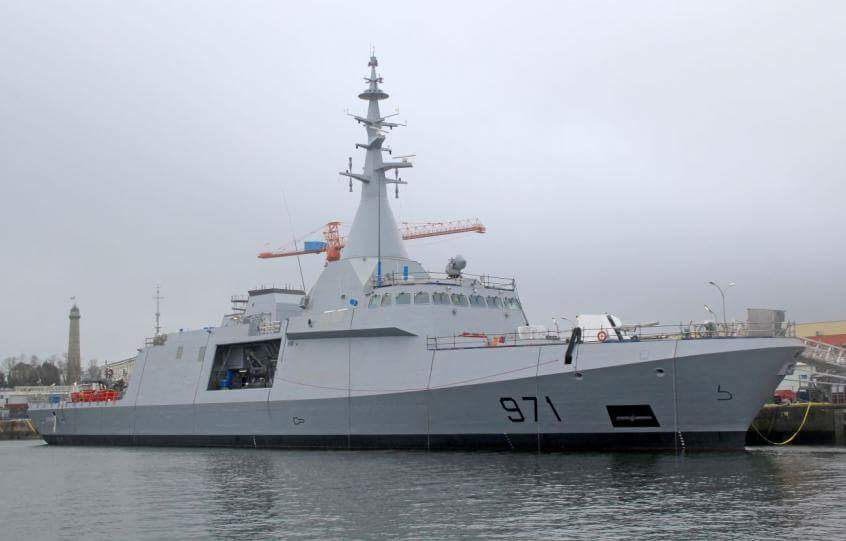 first egyptian navy dcns gowind 2500 corvette launched for sea trials