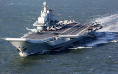 China preparing to launch first indigenously built aircraft carrier