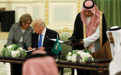 Saudi Arabia and America ink $110 billion arms deal