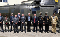 The UK hands over 7 refurbished Sea King helicopters to Pakistan