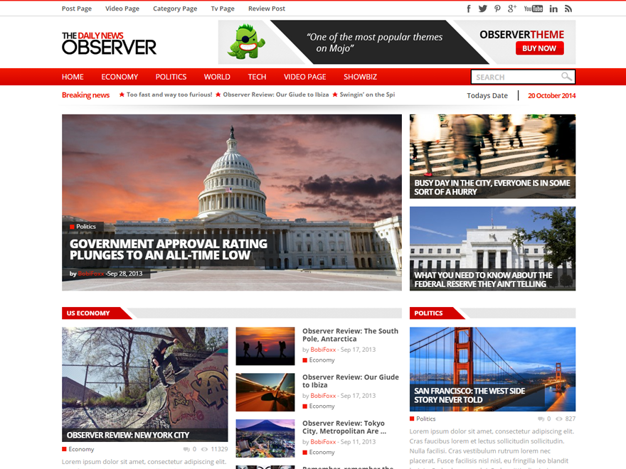 observer multipurpose newsmagazine theme