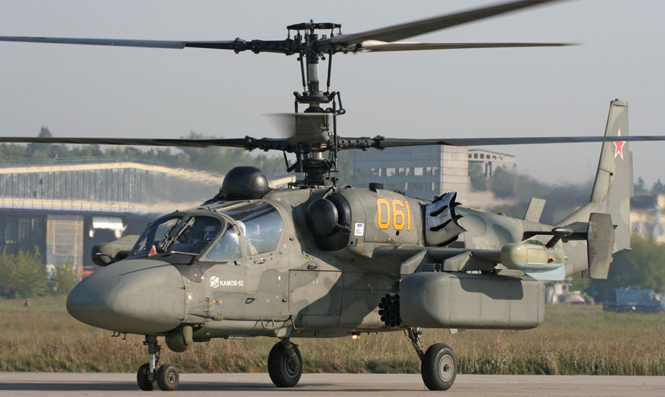 The Ka-52 Hokum-B dedicated attack helicopter. Egypt is reportedly interested in 30 such machines, possibly for use with the Mistrals.
