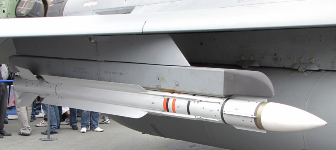 The MICA-RF active radar-guided beyond visual air-to-air missile (BVRAAM)