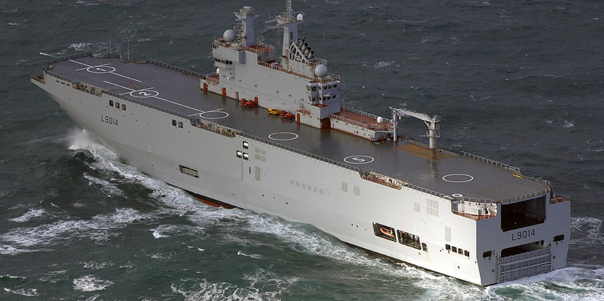 The DCNS Mistral Class Amphibious Assault Ship