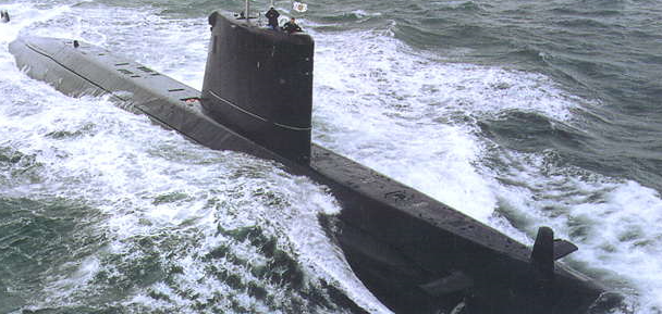 One of three Agosta-90B AIP conventional submarines in service with the Pakistan Navy.