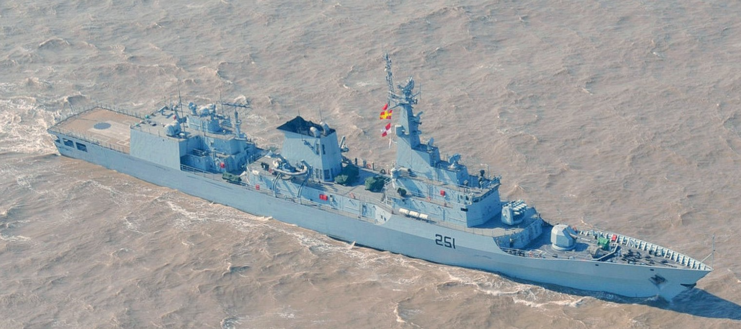 PNS Zulfiqar, one of four F-22P frigates delivered to the Pakistan Navy.