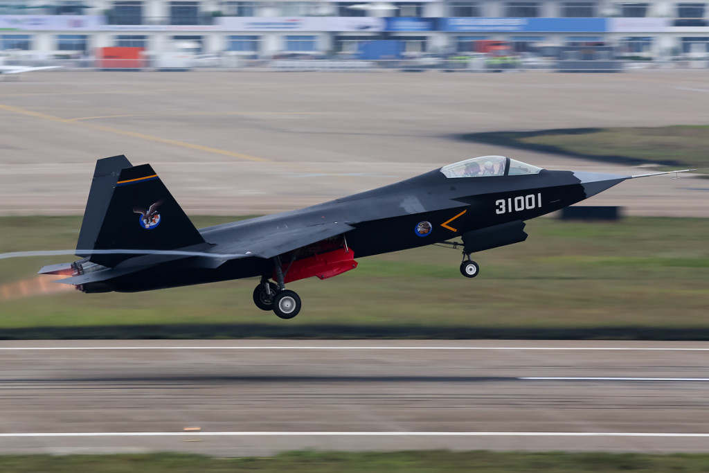 The Shenyang J-31 Gyrfalcon is one of China's two next-generation fighter programs. According to Jane's Pakistan reportedly expressed interest in 36-40 FC-31, the export variant of the J-31 Gyrfalcon. Photo credit: Russavia via Wikipedia