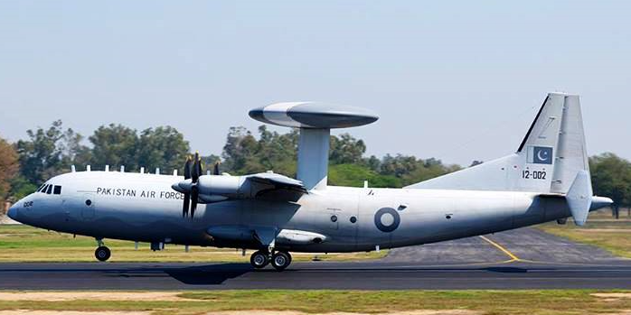 A Karakorum Eagle (aka ZDK03) AEW&C system. Given the sensitivity of these platforms (in light of a major attack on Kamra Air Base in 2012 which resulted in the destruction of one Erieye AEW&C), it is not known where PAF AEW&C assets are specifically deployed. Though it is possible that Southern Air Command has been equipped with AEW&C aircraft.