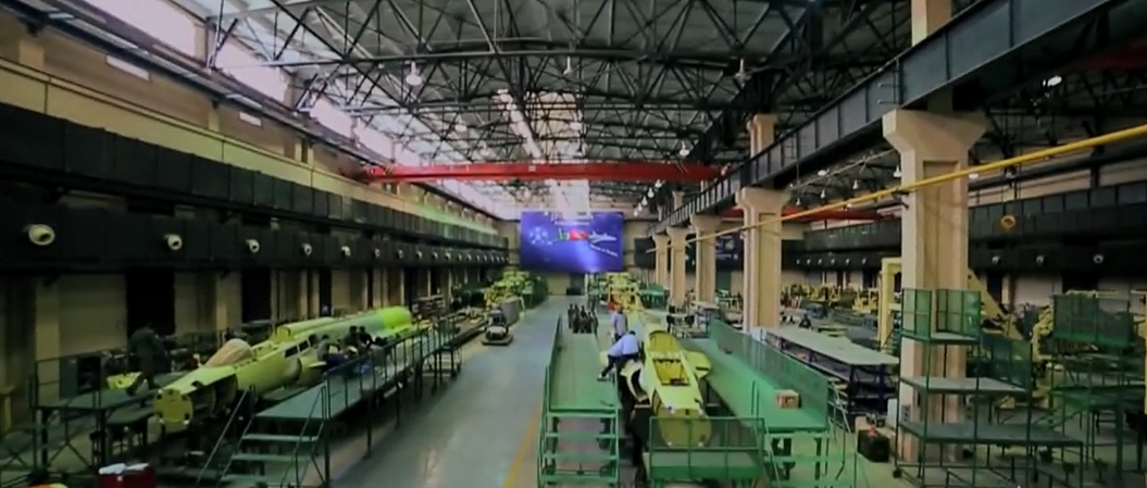 The JF-17 production line at Pakistan Aeronautical Complex (PAC), Kamra.
