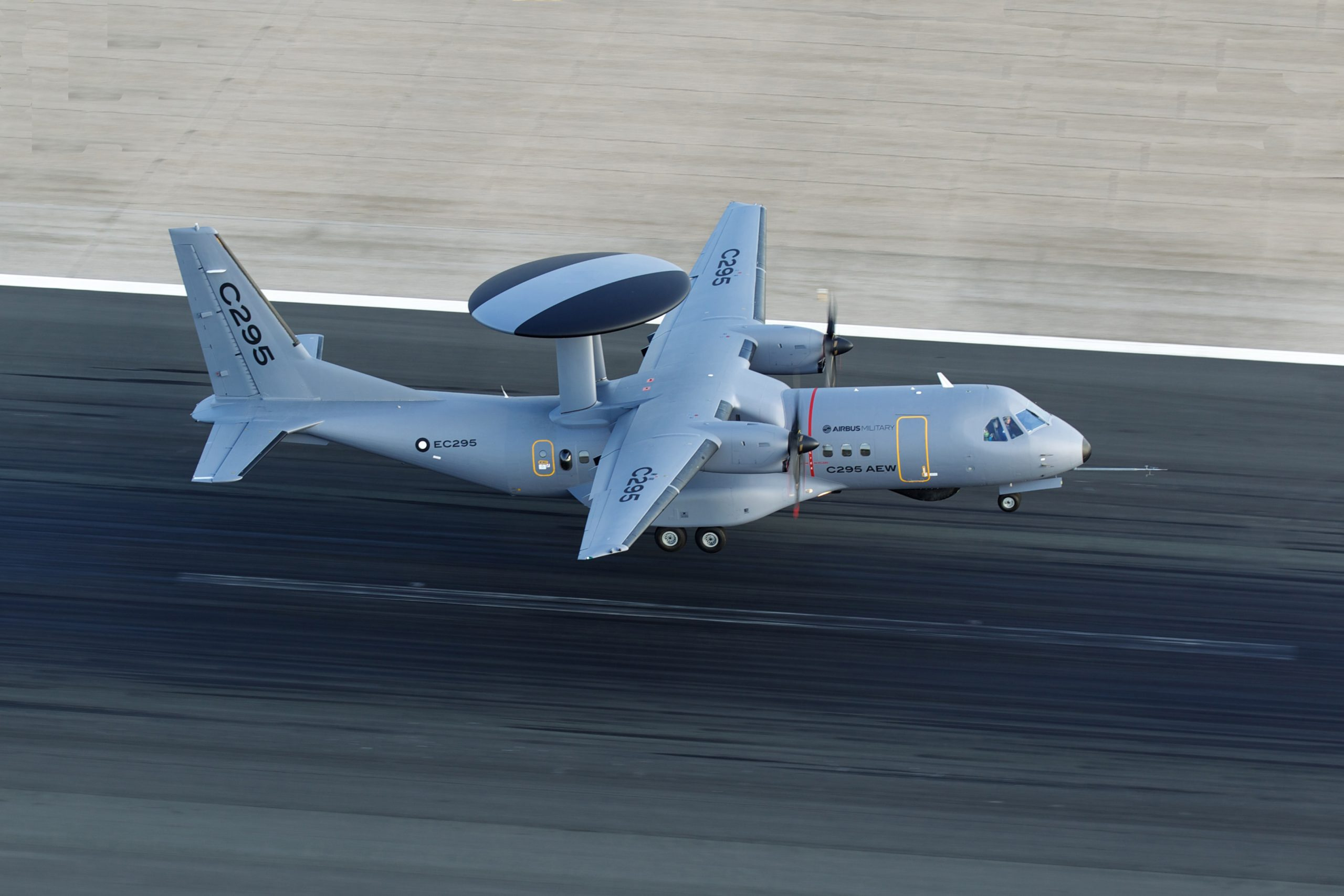 A prototype of the CN-295 AEW&C, a joint-program between Airbus and IAI. Photo credit: Airbus