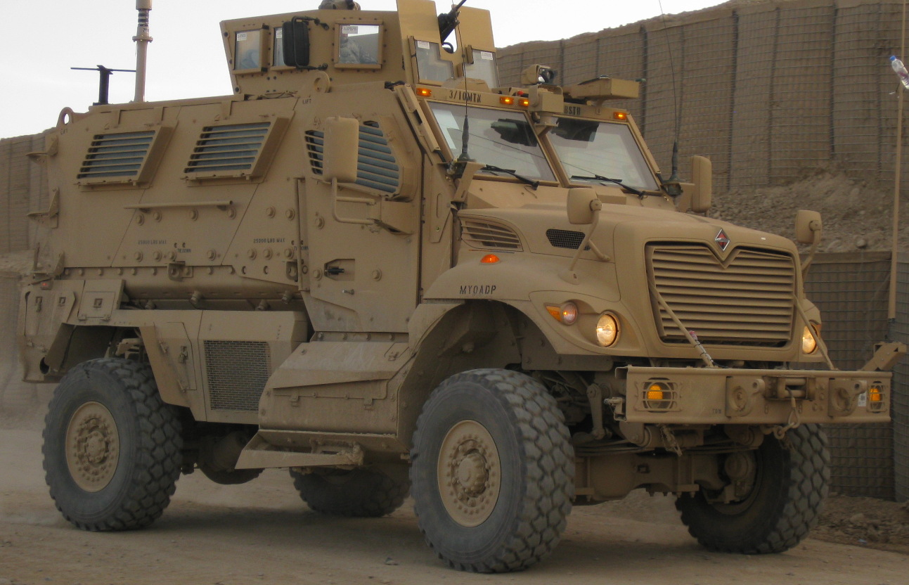 A Navistar International MaxxPro Dash, among the 160 MRAP vehicles ordered by the Pakistan Army in September 2014.