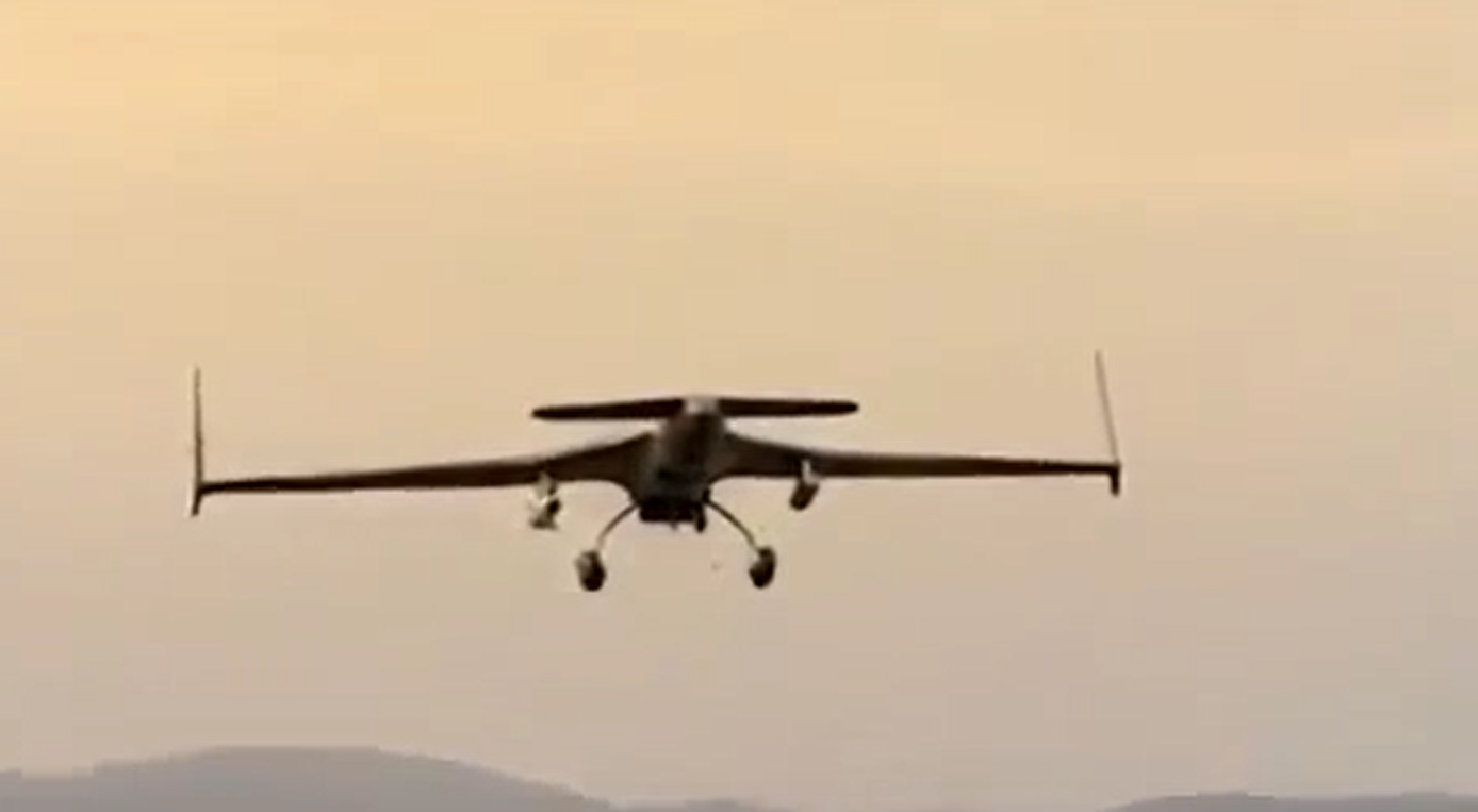 A NESCOM Burraq armed UAV equipped with two Barq AGM.