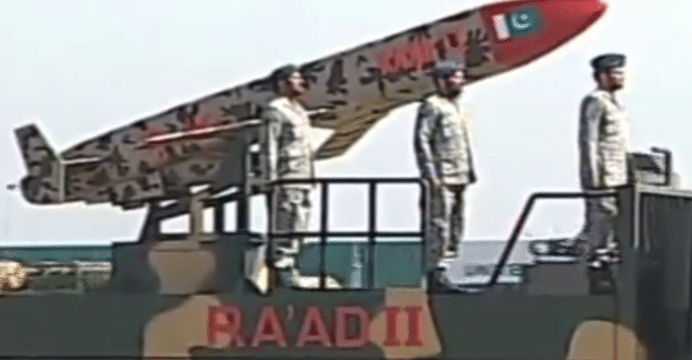 Pakistan officially unveils extended range Ra'ad 2 air-launched