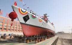 China's CSSC launches C-13B corvette for Bangladesh