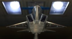 KF-X-fighter-model-going-through-wind-tunnel-testing