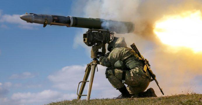 soldier-firing-Kornet-E-anti-tank-missile