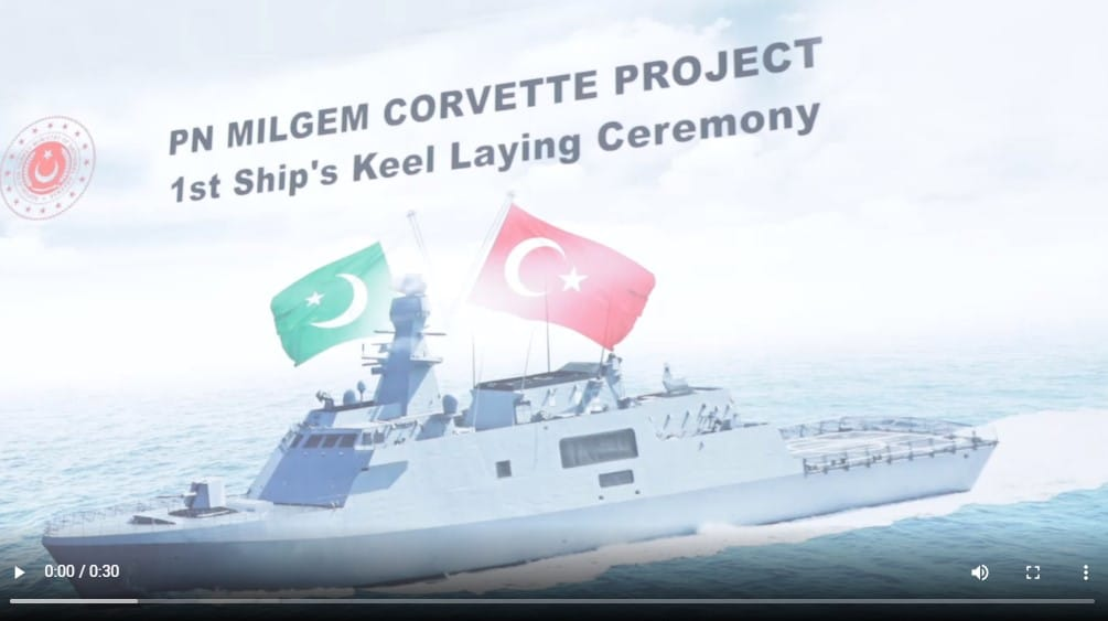 Istanbul Naval Shipyard Lays Keel for First Pakistani MILGEM